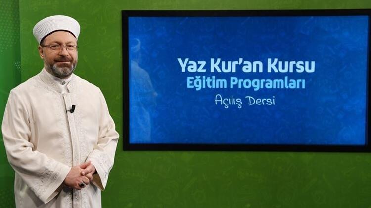 Diyanet TV yaz Kur'an kursu 2020 canlı yayın frekans bilgileri ve ders programı.. TRT Diyanet TV ekranı