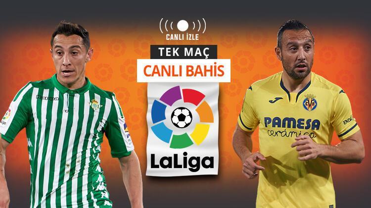 Son 5 maçtan 12 puan çıkartan Villarreal, Real Betis deplasmanında! iddaa'da en çok...