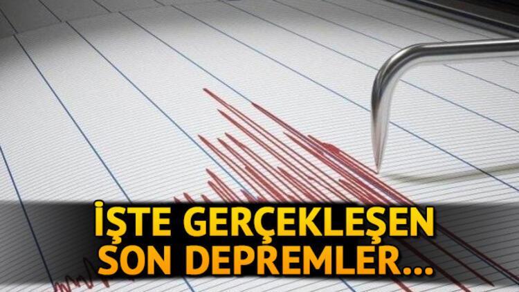 Son depremler: Deprem mi oldu? İşte 1 Temmuz Kandilli Rasathanesi ve AFAD son dakika açıklamaları