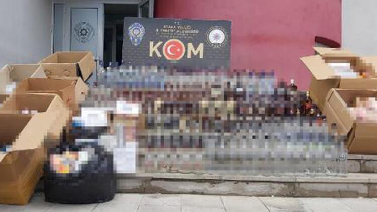 Adana'da 550 bin lira değerinde kaçak ürün ele geçirildi