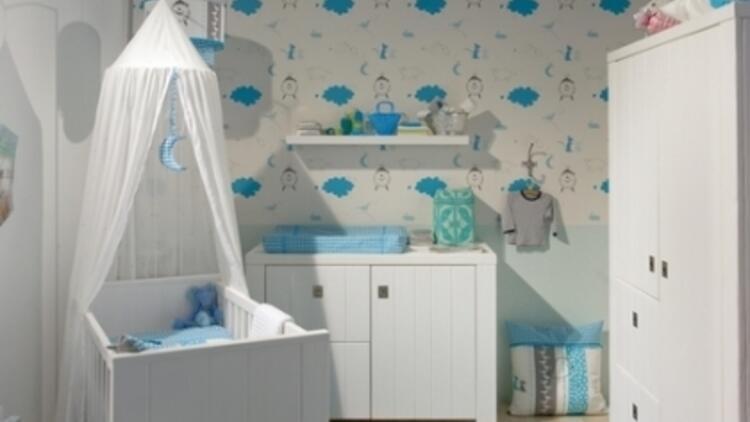 Bebek Odalarında Duvar Kağıdı Moda