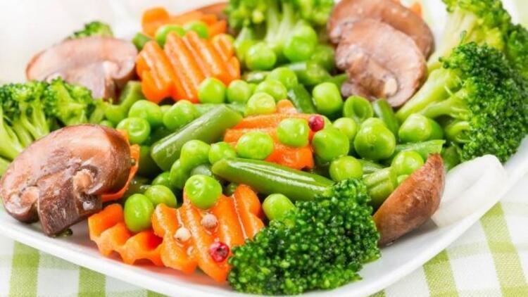 Buharda pişen sebzelerde detoks etkisi var