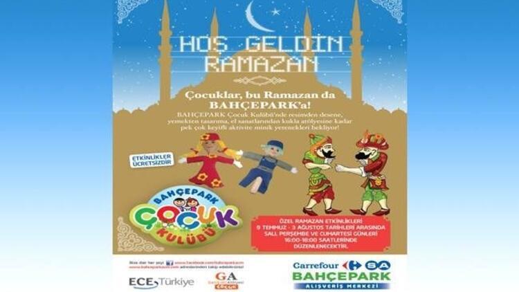 Çocuklar ramazanda Bahçepark'ta eğlenecek!