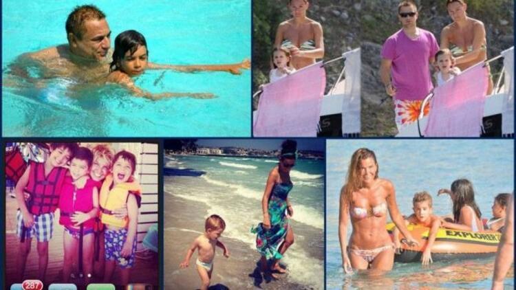 Ünlü isimler çocuklarıyla tatilde!