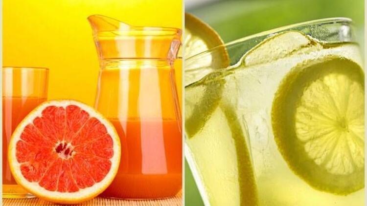 Limonata ve greyfurt bakın neye iyi geliyor?