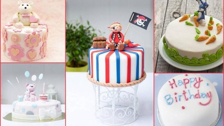 Çocuklar için en renkli doğum günü pastaları