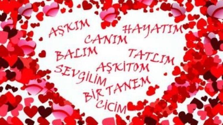 """İşte Türkiye'nin """"AŞK""""  sözcükleri!"""