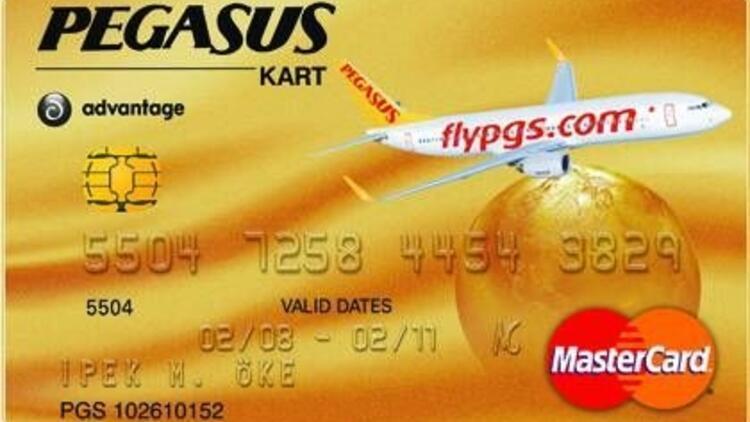 Pegasus kart alana uçak bileti hediye