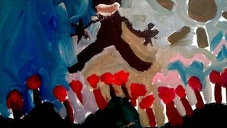 4 yaşındaki Irmak Dorman'ın ilk sergisi