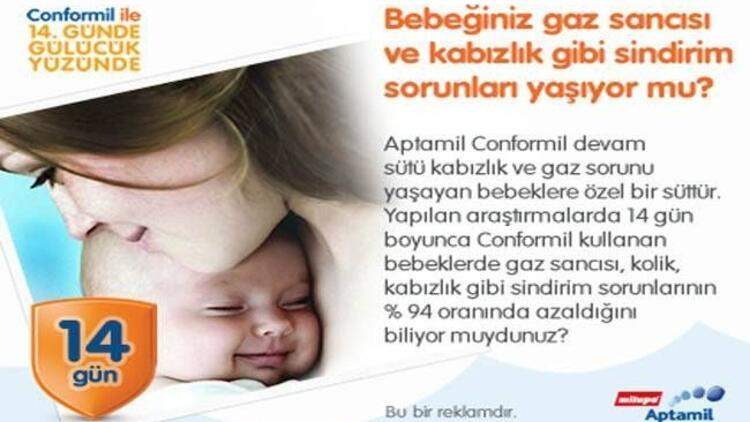 Aptamil Conformil ile bebekler çok rahat