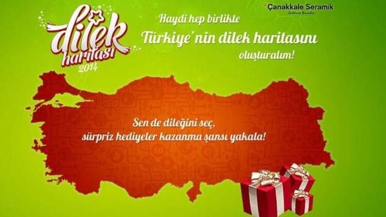 Türkiye haritası dileklerle renkleniyor