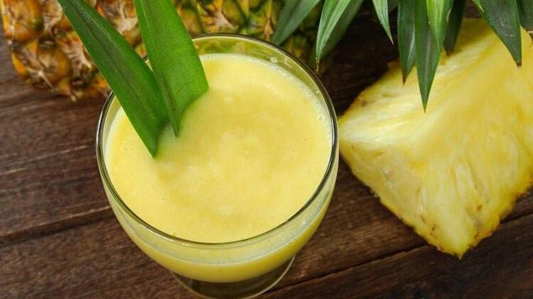 Ananas suyu yağları eritiyor!