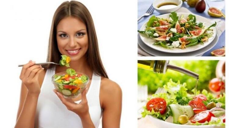 Zayıflatan salatalar