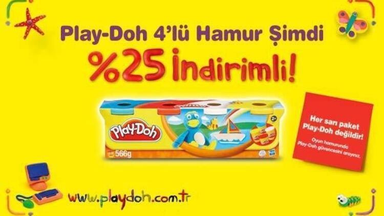 Play-Doh 4'lü Hamur %25 indirimli!