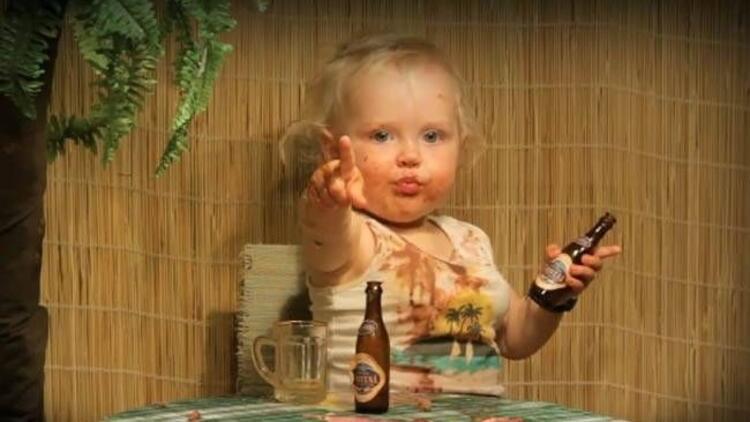 Alkolü fazla kaçıran bebek