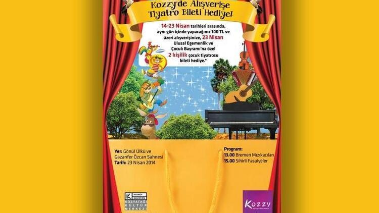 Kozzy'den çocuklara tiyatro şenliği!