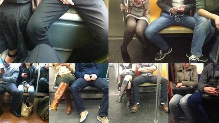Kadınlardan erkeklere uyarı: 'Bacaklarını topla'
