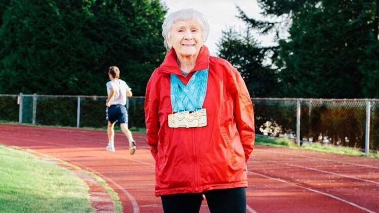 95 yaşındaki atletin sağlık sırrı!