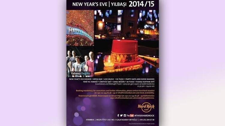 Yeni yılı Hard Rock Cafe İstanbul'da karşılayın