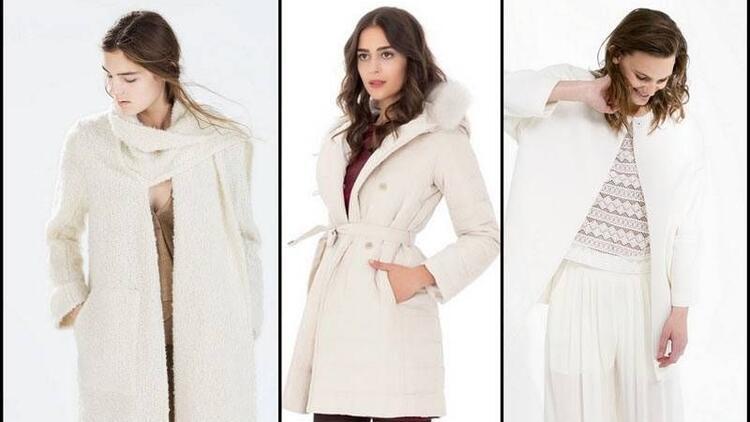 Kışın soğuğuna inat beyaz paltolar
