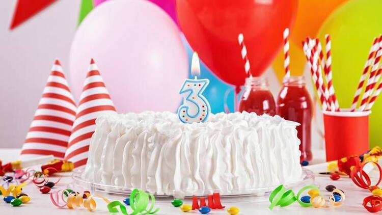 3 yaş için doğum günü pastaları