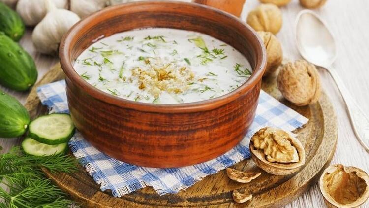 Yaz aylarında soğuk çorba için!
