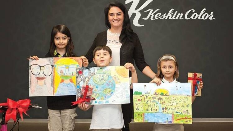 Çocuklar resim yarışmasında doğayı renklendirdi
