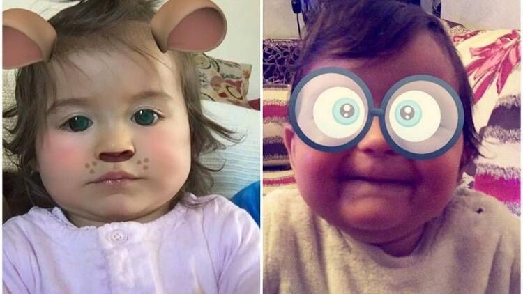 Snapchat efektleriyle daha da sevimli olan 10 bebek!