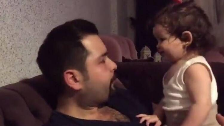 Babasını hiç kimseyle paylaşmayan minik kız