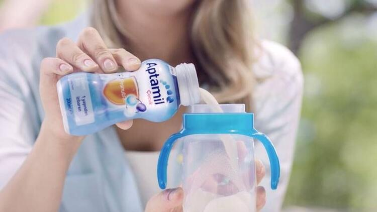 Sıvı Aptamil Çocuk Devam Sütü her yerde yanınızda