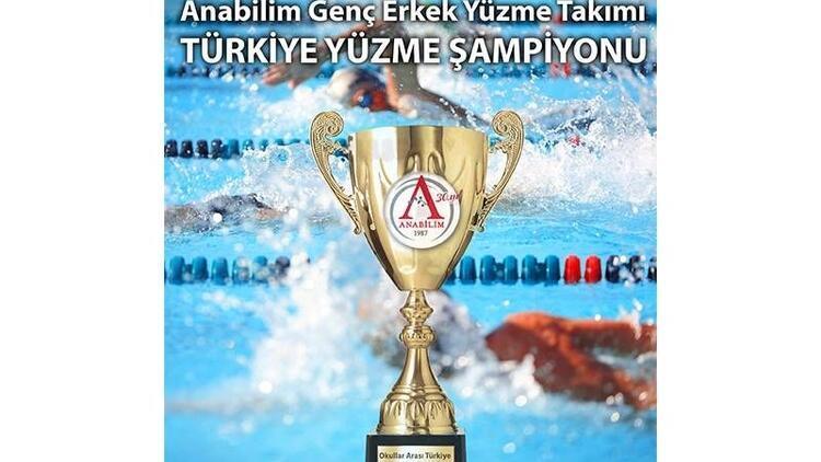 Anabilim Genç Erkek Yüzme Takımı yine şampiyon oldu!
