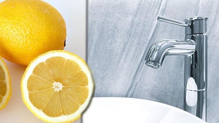 Banyo musluğu temizliği için pratik yöntem