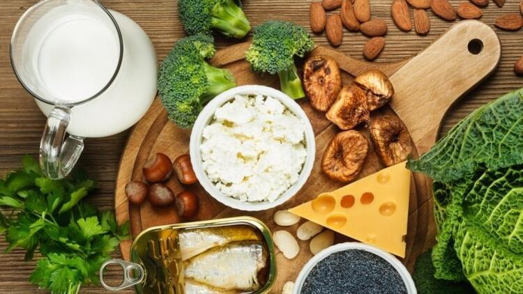 D vitamini ve kalsiyum zengini besinler