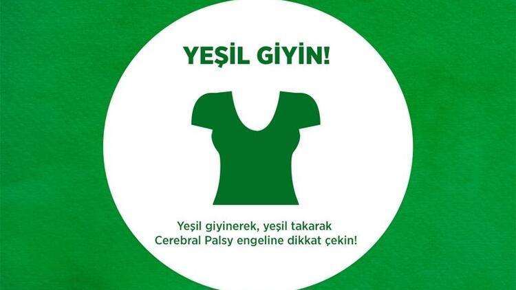 """Cerebral Palsy için """"yeşil"""" giy, """"yeşil"""" ışık yak, farkındalık yarat"""