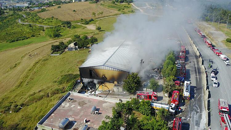 Son dakika haberi: Başakşehir'de fabrikada yangın