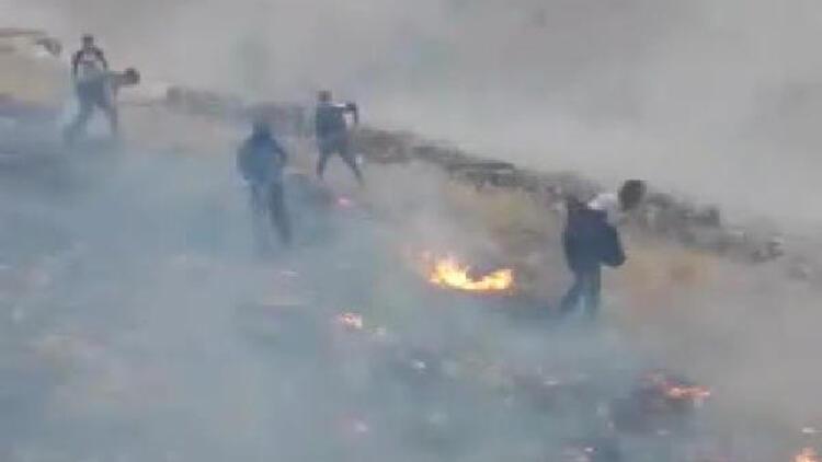 Gercüş'te yıldırım yangına neden oldu; 2 hektarlık alan zarar gördü