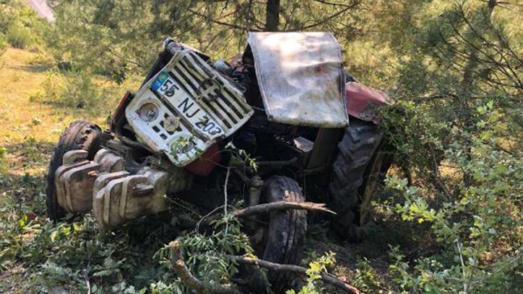 Samsun'da traktör devrildi; ehliyetsiz sürücü öldü, 1 kişi yaralı