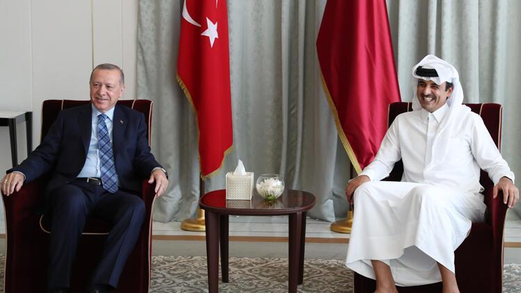 Cumhurbaşkanı Erdoğan'dan Katar'da önemli görüşme