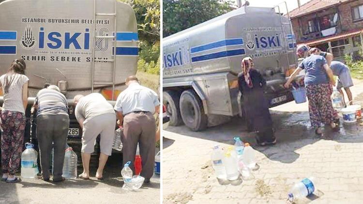 Şileliler kesintilere tepkili... Tankerli su tartışması