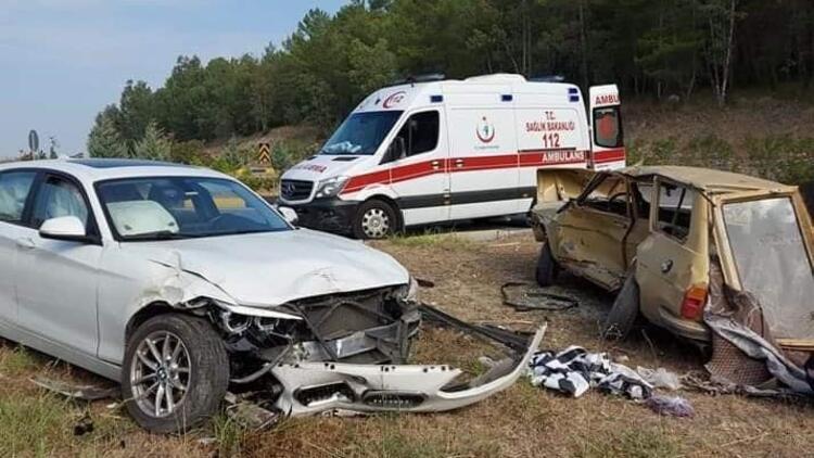 Muğla'nın Dalaman ilçesinde iki otomobil çarpıştı: 2 ölü, 1 yaralı