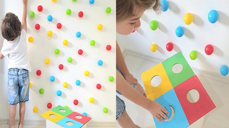 Bebekler ve çocuklar için motor becerileri geliştirecek eğlenceli bir aktivite