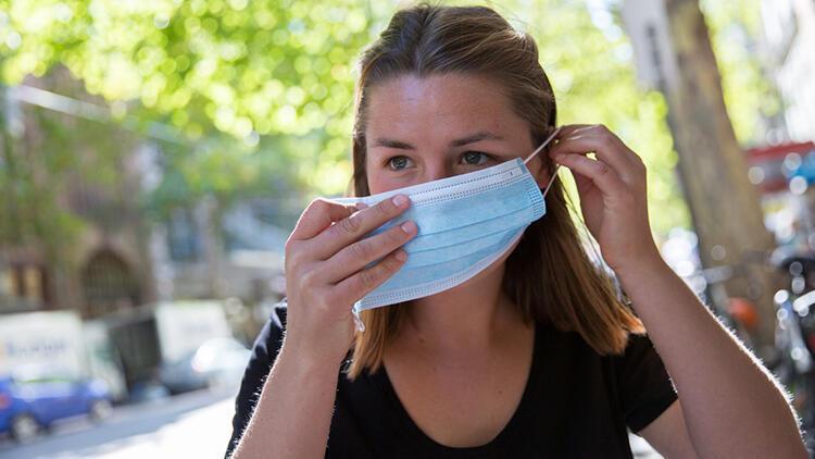Sıcak havada ıslanan ve nemlenen maske tekrar kullanılmamalı