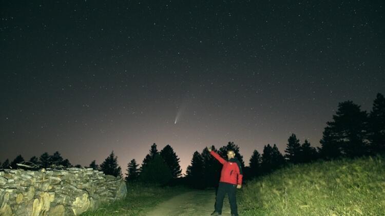 Bursalı fotoğrafçı Uğur İkizler, Neowise kuyruklu yıldızını görüntüledi