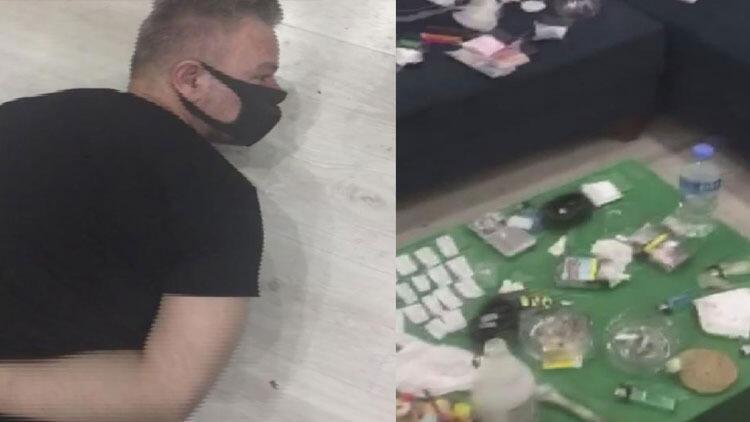Bakırköy'de otel odasındaki uyuşturucu ticaretine polis baskını kamerada