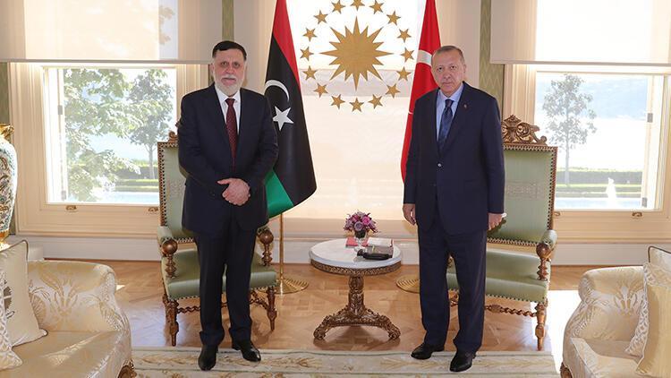 Son dakika haberi: Cumhurbaşkanı Erdoğan, Libya Başbakanı Serrac ile görüştü