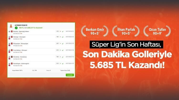 6 maçlık iddaa kuponu yaptı, 5.685 TL kazandı Süper Lige süper son...