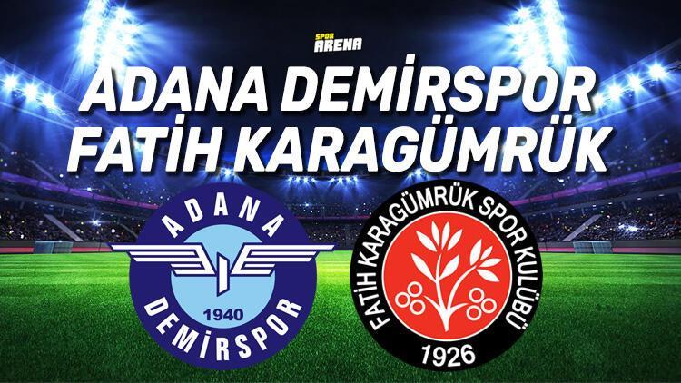 Son Dakika | TFF 1. Lig Play-off finalinde Adana Demirspor - Fatih Karagümrük maçı nerede saat kaçta oynanacak