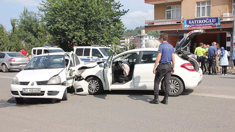 Orduda trafik kazaları: 3 yaralı