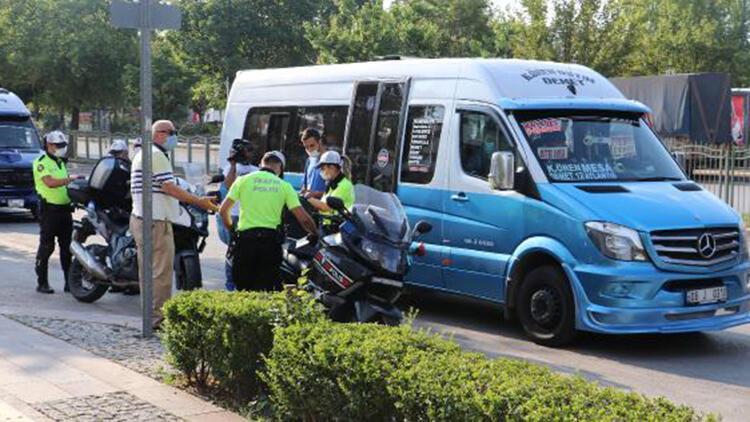 Ankara'da dolmuş ve minibüslerde 'koronavirüs' denetimi