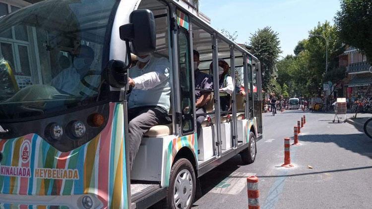 Büyükada'da elektrikli araçların test sürüşü yapıldı